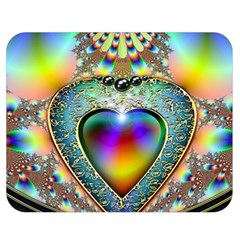 Rainbow Fractal Double Sided Flano Blanket (medium)  by BangZart