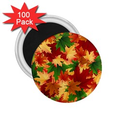 Autumn Leaves 2 25  Magnets (100 Pack)  by BangZart