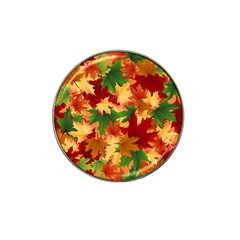 Autumn Leaves Hat Clip Ball Marker by BangZart
