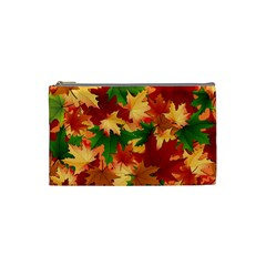 Autumn Leaves Cosmetic Bag (small)  by BangZart