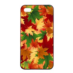 Autumn Leaves Apple Iphone 4/4s Seamless Case (black) by BangZart