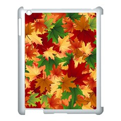 Autumn Leaves Apple Ipad 3/4 Case (white) by BangZart