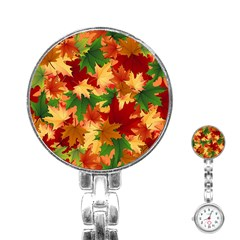 Autumn Leaves Stainless Steel Nurses Watch by BangZart