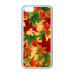 Autumn Leaves Apple Iphone 5c Seamless Case (white) by BangZart