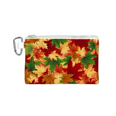 Autumn Leaves Canvas Cosmetic Bag (s) by BangZart