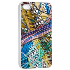 Circuit Computer Apple Iphone 4/4s Seamless Case (white) by BangZart