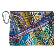 Circuit Computer Canvas Cosmetic Bag (xxl) by BangZart