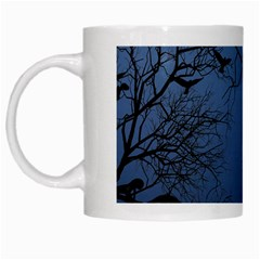 Crow Flock  White Mugs by Valentinaart