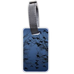Crow Flock  Luggage Tags (one Side)  by Valentinaart