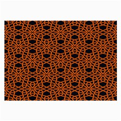 Triangle Knot Orange And Black Fabric Large Glasses Cloth (2 Side) by BangZart