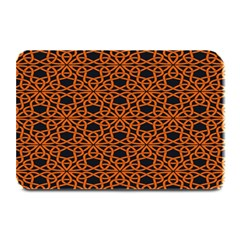 Triangle Knot Orange And Black Fabric Plate Mats by BangZart