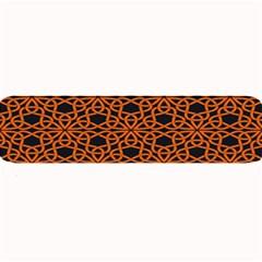 Triangle Knot Orange And Black Fabric Large Bar Mats by BangZart