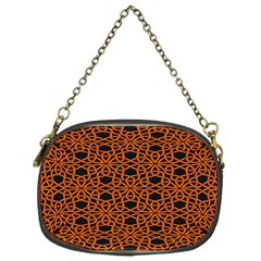 Triangle Knot Orange And Black Fabric Chain Purses (one Side)  by BangZart