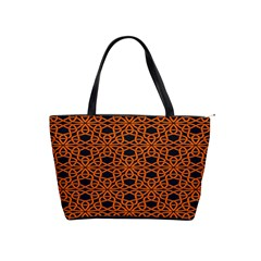 Triangle Knot Orange And Black Fabric Shoulder Handbags by BangZart