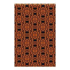 Triangle Knot Orange And Black Fabric Shower Curtain 48  X 72  (small)  by BangZart