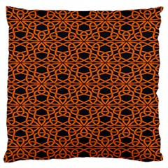 Triangle Knot Orange And Black Fabric Large Cushion Case (two Sides) by BangZart