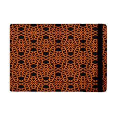 Triangle Knot Orange And Black Fabric Apple Ipad Mini Flip Case by BangZart