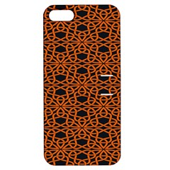 Triangle Knot Orange And Black Fabric Apple Iphone 5 Hardshell Case With Stand by BangZart