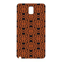 Triangle Knot Orange And Black Fabric Samsung Galaxy Note 3 N9005 Hardshell Back Case by BangZart