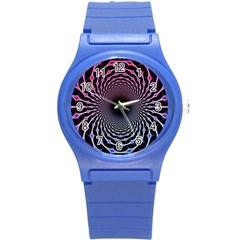 Spider Web Round Plastic Sport Watch (s) by BangZart