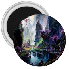 Fantastic World Fantasy Painting 3  Magnets by BangZart