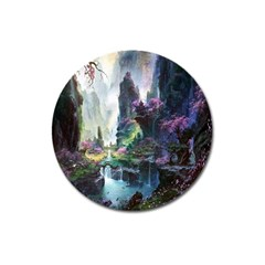 Fantastic World Fantasy Painting Magnet 3  (round) by BangZart