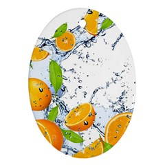 Fruits Water Vegetables Food Ornament (oval) by BangZart