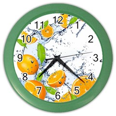 Fruits Water Vegetables Food Color Wall Clocks by BangZart