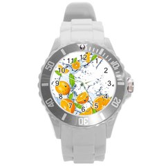 Fruits Water Vegetables Food Round Plastic Sport Watch (l) by BangZart