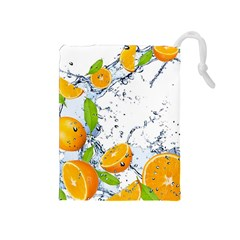 Fruits Water Vegetables Food Drawstring Pouches (medium)  by BangZart