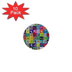 Exquisite Icons Collection Vector 1  Mini Buttons (10 Pack)  by BangZart