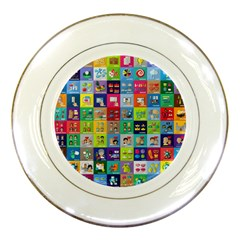 Exquisite Icons Collection Vector Porcelain Plates by BangZart