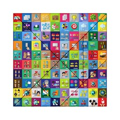 Exquisite Icons Collection Vector Acrylic Tangram Puzzle (6  X 6 ) by BangZart