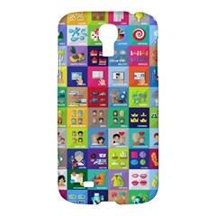 Exquisite Icons Collection Vector Samsung Galaxy S4 I9500/i9505 Hardshell Case by BangZart