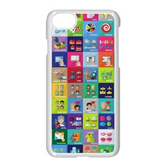 Exquisite Icons Collection Vector Apple Iphone 7 Seamless Case (white) by BangZart