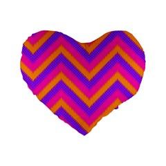 Chevron Standard 16  Premium Heart Shape Cushions by BangZart