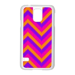 Chevron Samsung Galaxy S5 Case (white) by BangZart