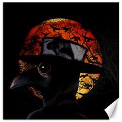 Bird Man  Canvas 16  X 16   by Valentinaart