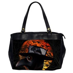 Bird Man  Office Handbags (2 Sides)  by Valentinaart