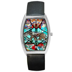 Elephant Stained Glass Barrel Style Metal Watch by BangZart