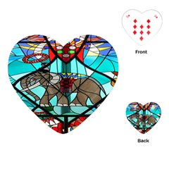 Elephant Stained Glass Playing Cards (heart)