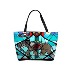 Elephant Stained Glass Shoulder Handbags by BangZart