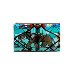 Elephant Stained Glass Cosmetic Bag (small)  by BangZart