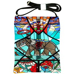 Elephant Stained Glass Shoulder Sling Bags by BangZart