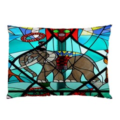 Elephant Stained Glass Pillow Case (two Sides) by BangZart