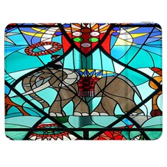 Elephant Stained Glass Samsung Galaxy Tab 7  P1000 Flip Case by BangZart