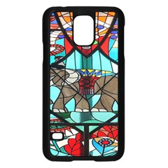 Elephant Stained Glass Samsung Galaxy S5 Case (black) by BangZart