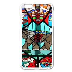 Elephant Stained Glass Apple Iphone 6 Plus/6s Plus Enamel White Case by BangZart
