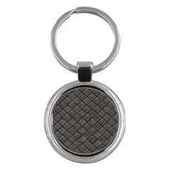 Seamless Leather Texture Pattern Key Chains (round)  by BangZart