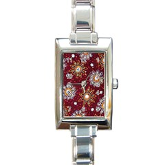 India Traditional Fabric Rectangle Italian Charm Watch by BangZart